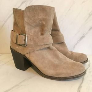BCBGeneration Taupe Booties Size 7.5